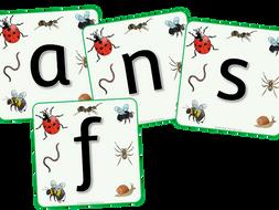 Minibeasts Alphabet Display - EDITABLE