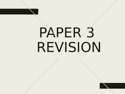 AQA 9-1 GCSE Geography Paper 2 and Paper 3 Revision