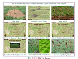 Adjectives Rodents and Moles English PowerPoint Game