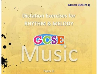 DICTATION - RHYTHM & MELODY PAPER #5 [MUSIC FROM THE MUSICALS]