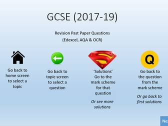 GCSE past paper Questions (New  course 2018 - ) Edexcel, AQA & OCR