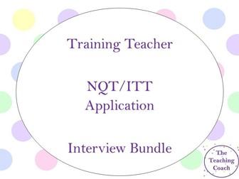 New Teacher NQT Application and Interview Bundle