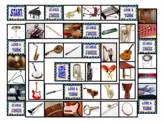 Musical Instruments Board Game
