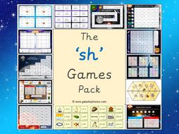 The 'sh' Phonics Games Pack