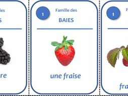 Jeu des Sept Familles - Les fruits