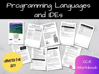 Programming Languages and IDEs OCR GCSE Computer Science Workbook (J277)