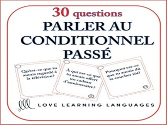 GCSE FRENCH: Past Conditional Tense French Speaking Task Cards