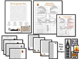The Gunpowder Plot - Guy Fawkes Day - Wordsearch | Questions | Binary Pixel Art