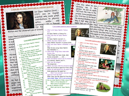 Sir Isaac Newton Biography Comprehension Text Scientist Friction