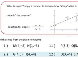 Finding Slope Worksheet by idoknowmath - Teaching Resources - Tes