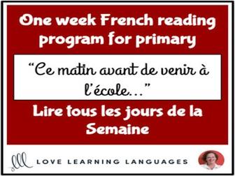 Le paragraphe de la semaine #1 - French primary reading program