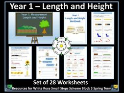 Length and Height - Year 1 - 28 Worksheets - White Rose Maths