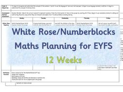 EYFS Maths Planning - White Rose/Numberblocks based - 12 weeks
