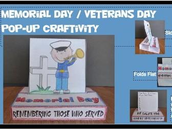 Memorial Day / Veterans Day POP-UP Craftivity