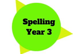 Year 3 - Year Plan - Spelling