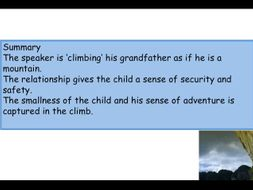 Climbing My Grandfather