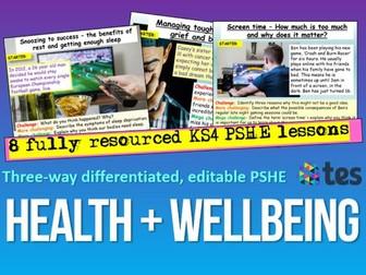 Health + Wellbeing PSHE KS4