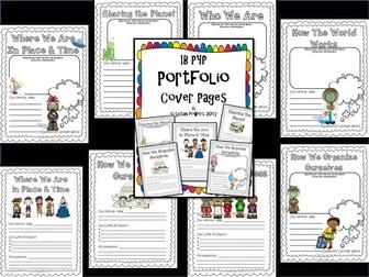 Back to School IB PYP Portfolio Cover Sheets