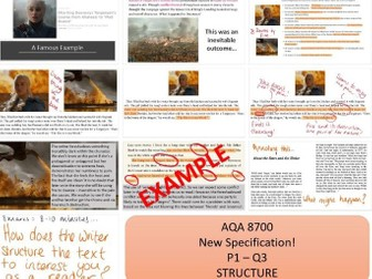AQA 8700 English Language - Paper 1 - Question 3 - Structure - Foreshadowing