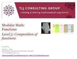 Modular Math Functions Level 5 Composition of Functions
