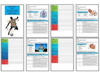Btec Sport - Level 3 - Unit 1 - Structure Strip - Cardiovascular System (Long Answer Questions)