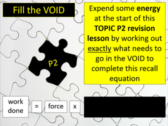 CIE IGCSE Combined Science P2 REVISION (Work, energy and power)