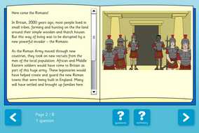 Black History in Britain Interactive Information Book and Questions - Reading Level B - KS2