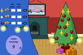 Buying Decorations Interactive Game - Christmas KS1/KS2