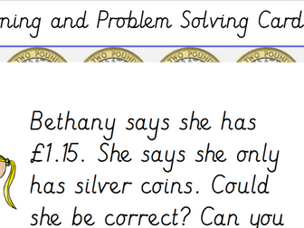 Year 2 Money Bundle Part Whole Models and Problem Solving Tasks