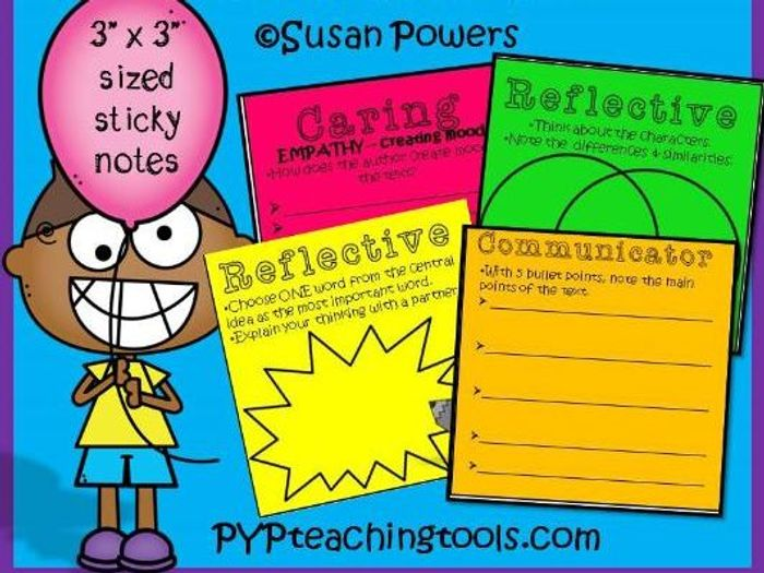 image regarding Printable Post Its identify Printable Short article Its for Looking at Knowledge for Any Phrases