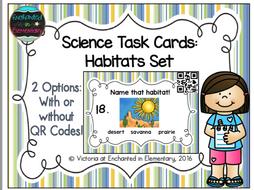 Science Task Cards: Habitats Set