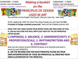Principles Of Design Fold Out Booklet Balance Harmony Emphasis By