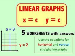 Linear Graphs  x = c  y = c