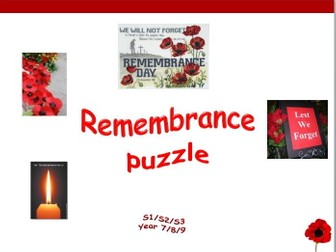 Remembrance Day - puzzle