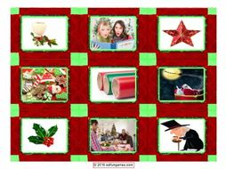 Christmas Card Game 4 Pages = 36 Cards