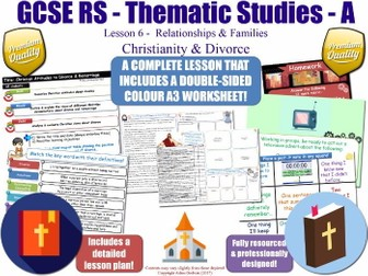 Christianity, Divorce & Remarriage [GCSE RS - Relationships & Families - L6/10] (Christianity)