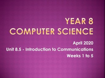 Computer Science: Intro to Communications [L5]