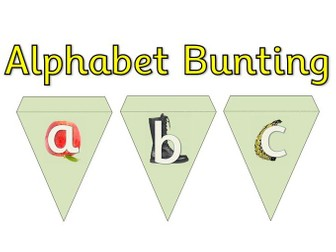 Alphabet Display Bunting - RWI Phonics Letter Formation