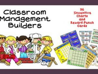Punch Cards and Incentive Charts Reward Bundle Classroom Management