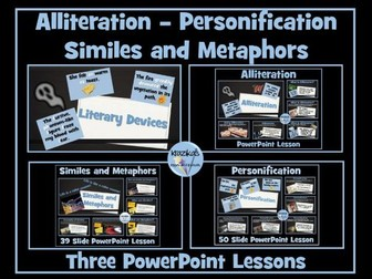 Similes, Metaphors, Personification and Alliteration