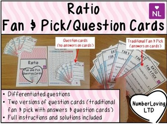 Ratio (Fan and Pick Question Cards)