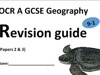 OCR revision guides all 3 exams geography 1-9 gcse by