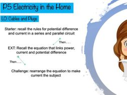 GCSE Physics KS4 Cables and Plugs