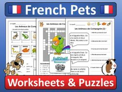 French Pets Worksheets and Puzzles