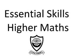 Scottish Higher Maths Essential Skills by MrRennieMaths