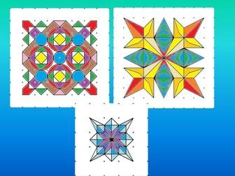 Symmetry in Rangoli patterns