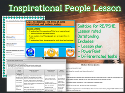 Outstanding Lesson - KS2 Inspirational People