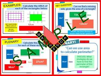 Area Revision or Whole Lesson