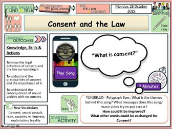 Sexual Consent & Law PSHE