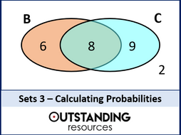 Sets 3 - Probability Problems involving Venn Diagrams (+ worksheet)